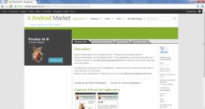 La punaise de lit sur l'Android Market