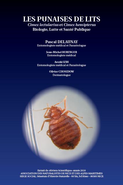 Les punaises de lit, cimex lectularius et cimex hemipterus, biologie, lutte et santé publique