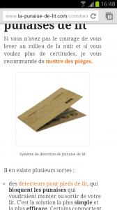 Vue mobile du site la-punaise-de-lit.com