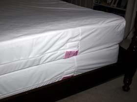 Housse anti punaise de lit pour matelas et sommier